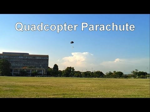 Quadcopter with parachute system