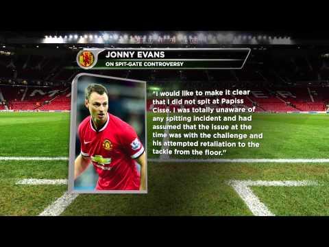 Nach Spuckvorwürfen: Jonny Evans bestreit alles   Attacke gegen Papiss Cisse   Manchester United