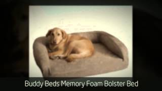 Eco Friendly Memory Foam Dog Beds - Buddy Beds Memory Foam Bolster Bed