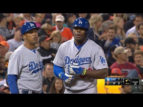 LAD@SF: Dodgers notch five triples vs. the Giants