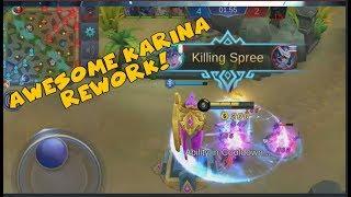 AWESOME NEW HERO KARINA REWORK (Mobile Legends)