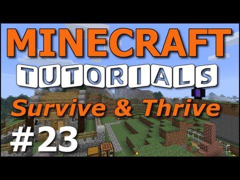 Minecraft Tutorials - E23 Home Defense: Murder Holes (Survive and Thrive II)