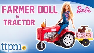 Barbie Farmer Doll and Tractor Playset [REVIEW] | Mattel Toys & Games
