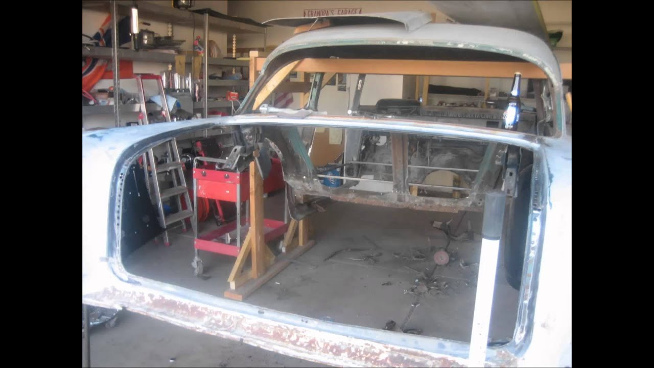 1957 chevy bel air frame off restoration danny youtube for 1957 chevy floor pan replacement
