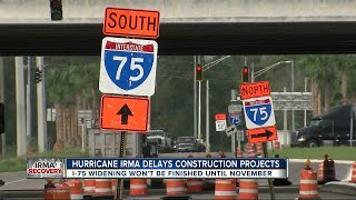 Hurricane Irma, other issues delay I-75 widening through Pasco County