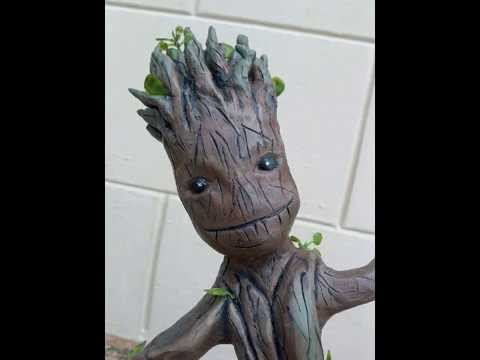 Guardians Of The Galaxy - Baby Groot Sculpture video