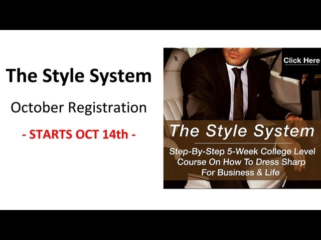 The Style System - Registraion CLOSED - October 2013