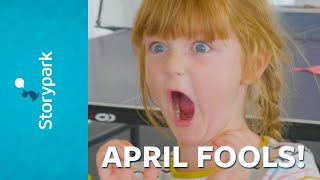 Children prank the Storypark office for April Fools