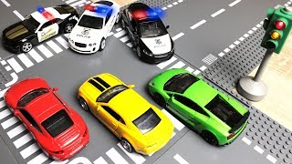 Police toy Chase Video for Kids || Toy Cars Action cartoon Race Cars with crash. Машинки