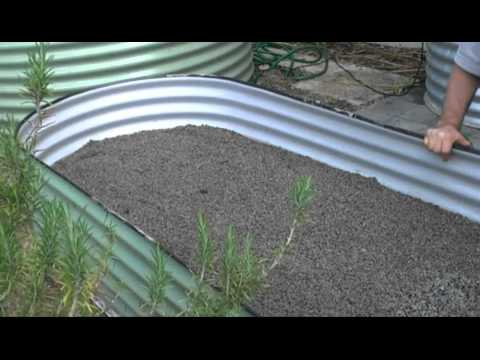 Above ground  Wicking Raised Garden Bed - Water Installations and Greywater Reuse Sys