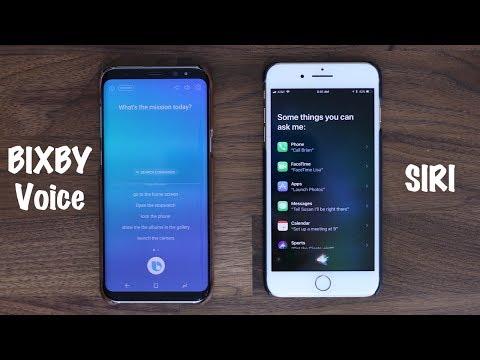 BIXBY Voice vs SIRI - Voice Assistant Comparison