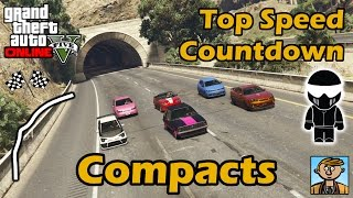 Fastest Compacts - Top Speeds Of Fully Upgraded Cars In GTA Online