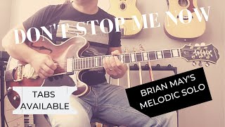 """""""Don't stop me now"""" solo by Brian May of Queen   Cover and lesson"""