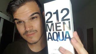 UNBOXING 212 MEN AQUA CAROLINA HERRERA