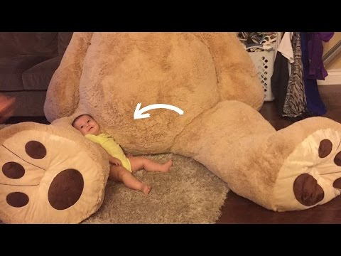 This Baby Just Received The Biggest Teddy Bear Ever