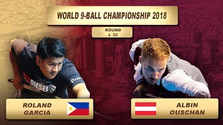 Roland Garcia - Albin Ouschan   World 9-Ball Championship 2018