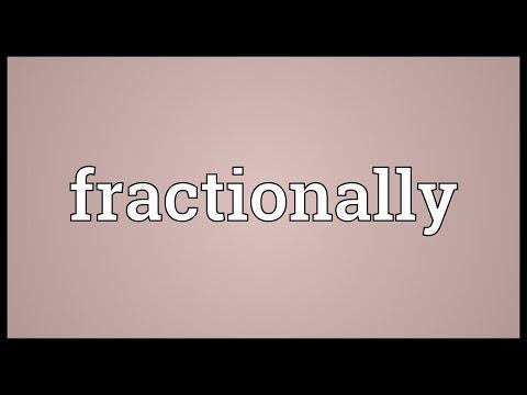 Header of fractionally