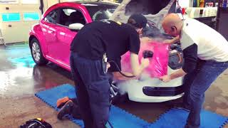 HEXIS - Super chrome pink gloss - WRAP installation - VW - New Beetle - T2DESIGN.CA