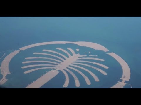 Palm Jebel Ali Dubai Island UAE  2014 View from Plane