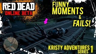 FUNNY MOMENTS AND FAILS WITH THE CREW | RED DEAD REDEMPTION 2 ONLINE