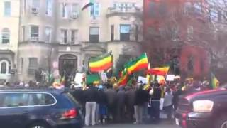 Ethiopians In Washington DC Protesting The Secret Border Deal With Sudan