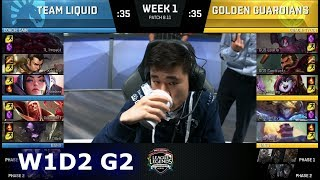 Team Liquid vs Golden Guardians | Week 1 Day 2 S8 NA LCS Summer 2018 | TL vs GGS W1D2