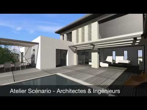 constructeur maison contemporaine toit plat page 1 10. Black Bedroom Furniture Sets. Home Design Ideas