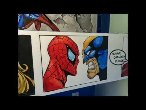 Marvel comic mural room by drews wonder walls ft. spider-man