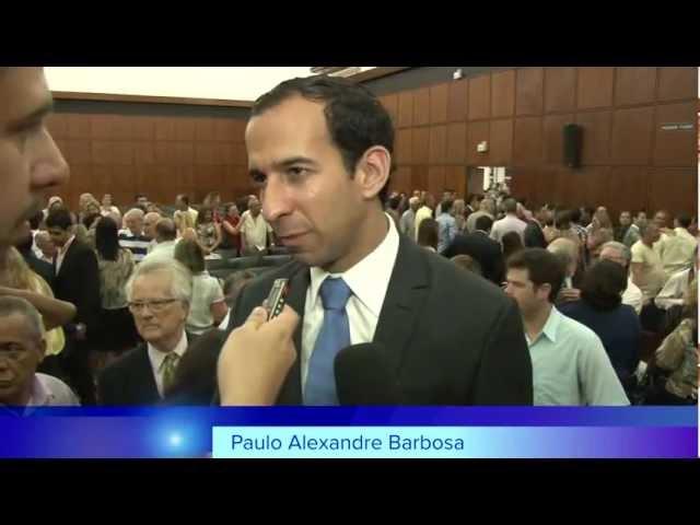 Diplomação do prefeito eleito de Santos, Paulo Alexandre Barbosa