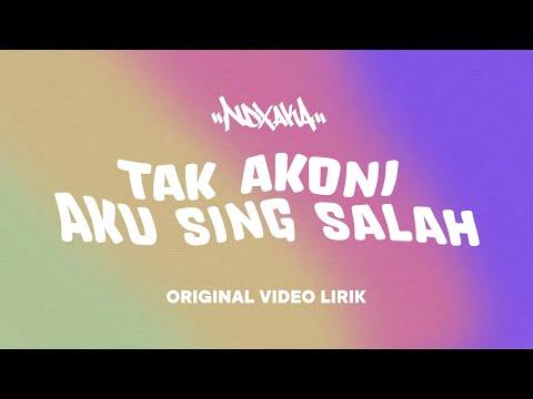 """Official Video Lirik """"Tak Akoni Aku Sing Salah"""" Lagu Terbaru NDX A.K.A Ft.PJR"""