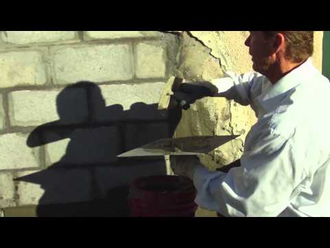 How to stucco a cinder block wall Skim coating CMU walls