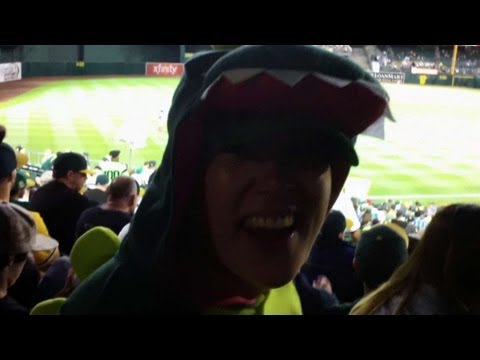 Athletics fan goes prehistoric in tribute to Norris
