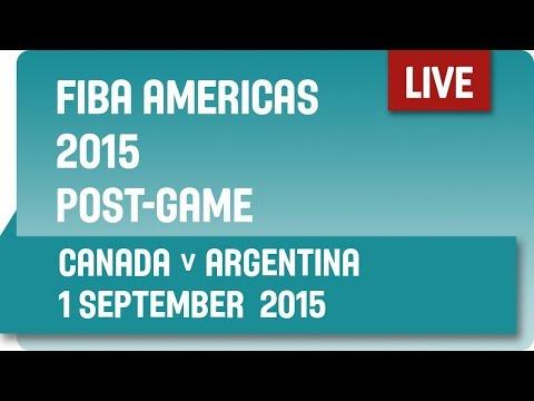 Post-Game: Canada v Argentina - Group B -  2015 FIBA Americas Championship