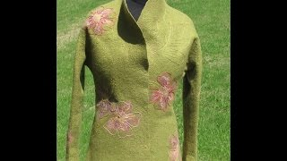 "Announcment: Workshop Felted Jacket ""Blooming Olive"""