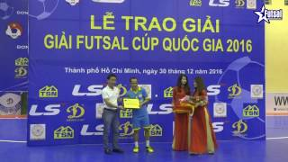 Cầu thủ Trần Văn Thanh - Vua phá lưới Giải Futsal Cup Quốc Gia 2016