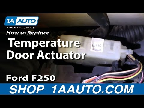 How To Install Replace Heater AC Temperature Door 99-07 Ford F250 F350 Super Duty 1AAuto.com