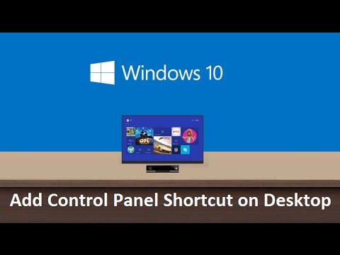 Windows 10 - Create desktop shortcut for control panel