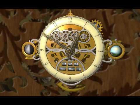 Steampunk Clock Screensaver Cogs Clock Screensaver