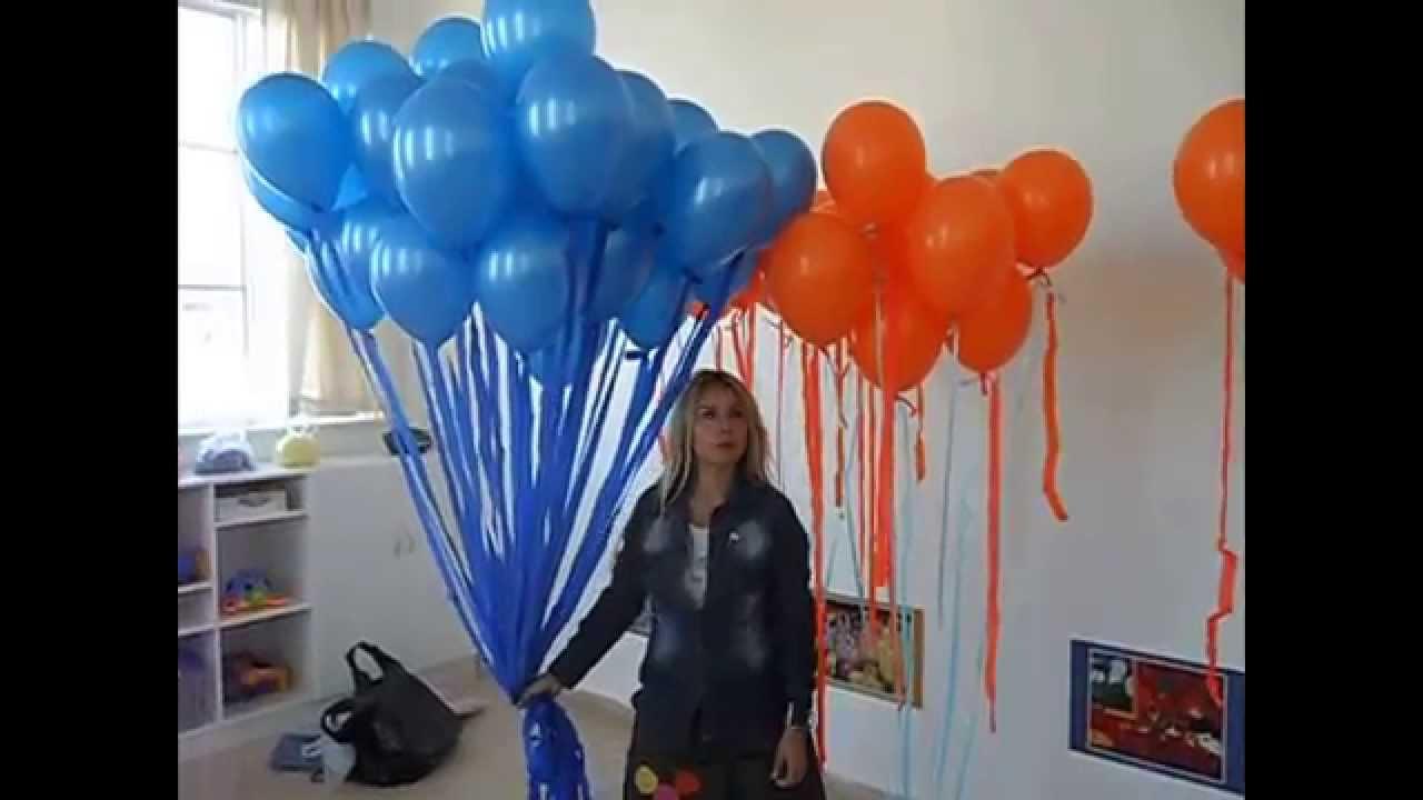 Graciela sanabria decoracion globos con gas helio youtube - Como conseguir globos de helio ...