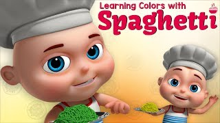Learning Colors with Spaghetti | Zool Babies Fun Videos | Learning Videos For Toddlers