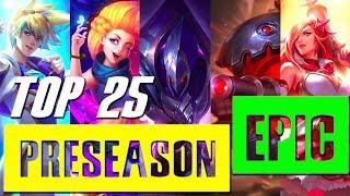 Top 25 Epic Champion Preseason 2018 - LoL Epic Rate Montage S8