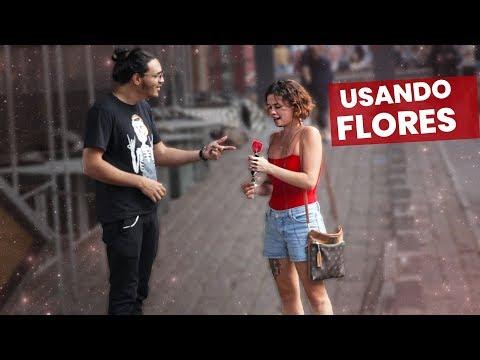 Xavecando Garotas com Ajuda das Flores Vídeos de zueiras e brincadeiras: zuera, video clips, brincadeiras, pegadinhas, lançamentos, vídeos, sustos