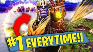 HOW TO BECOME THANOS EVERYTIME! Fortnite: Battle Royale