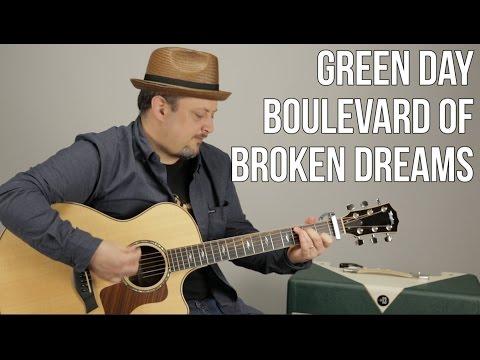 Green Day - Boulevard Of Broken Dreams - Guitar Lesson- Easy Beginner Acoustic Song