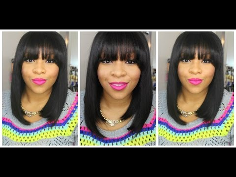 My New Short Bob Hair Cut With Full Fringe Bangs | Quick Style & Easy Cut