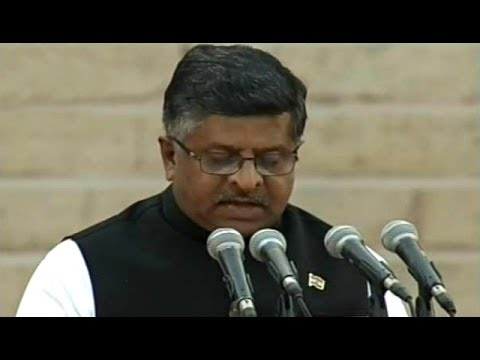 Telecom Minister Ravi Shankar Prasad Takes Charge Of His Office