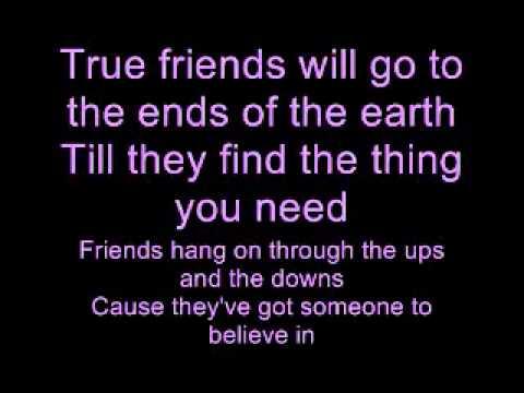 Hannah Montana - True Friends Lyrics video