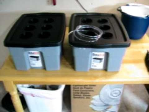 Deep Water Culture Hydroponic system design and build 18 Dec 2010