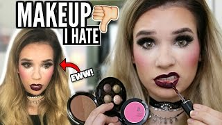 FULL FACE Using Makeup Products I HATE! *SO BAD*