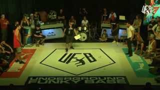 underground funky base vol 8 world final 1 vs 1 b-boy quarter-final(2) okan vs fero)